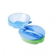 Kit 2 Pratos Fundos On The Go (Azul e Verde) - Tommee Tippee