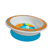Prato raso com ventosa funny meal (Menino) - Multikids baby