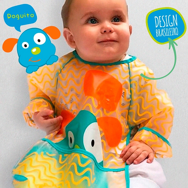 Babador com Manga (Girafa) - Multikids Baby