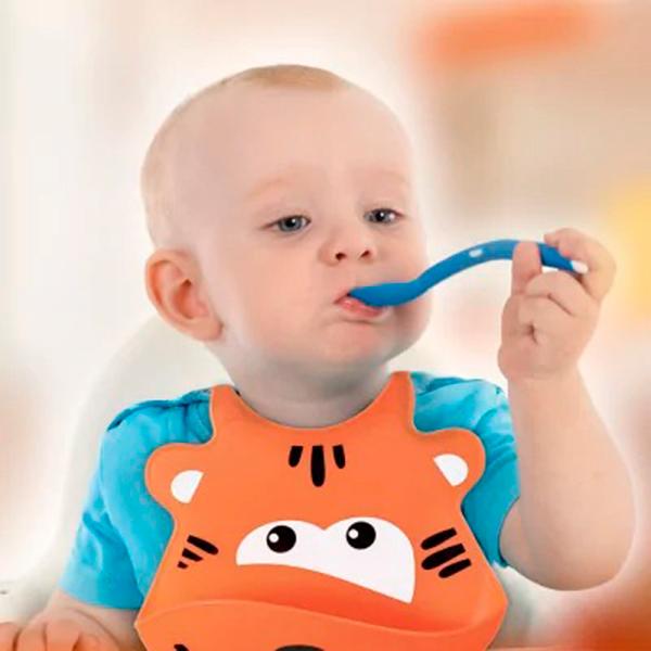 Babador de Silicone Silybib (Leão) - Multikids Baby