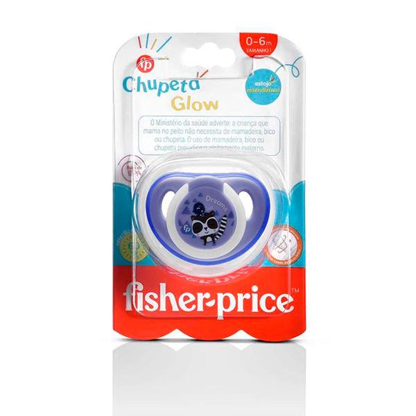Chupeta First Moments Glow Tam. 1 (Azul) Com Case Esterilizador - Fisher-Price