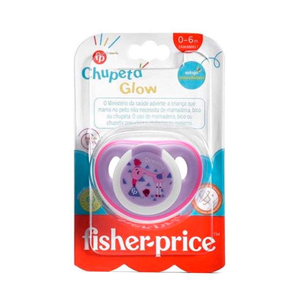 Chupeta First Moments Glow Tam. 1 (Rosa) Com Case Esterilizador - Fisher-Price