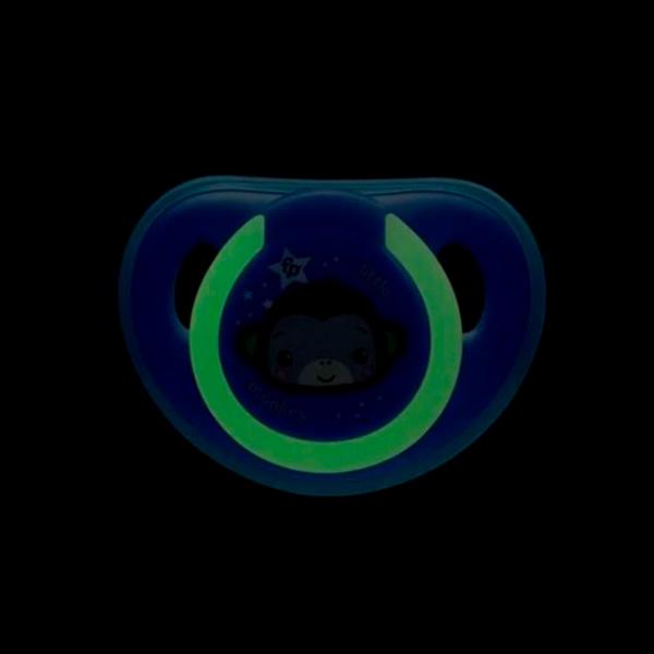 Chupeta First Moments Glow Tam. 2 (Azul) Com Case Esterilizador - Fisher-Price