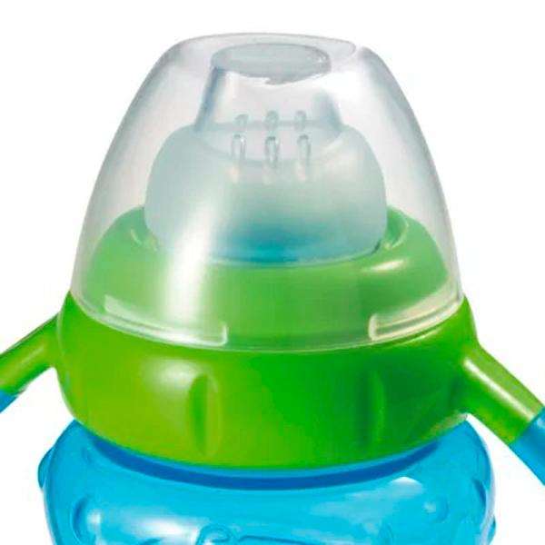 Copo de Treinamento com Bebedor de Silicone Learn 275ml (Menino) - Multikids Baby