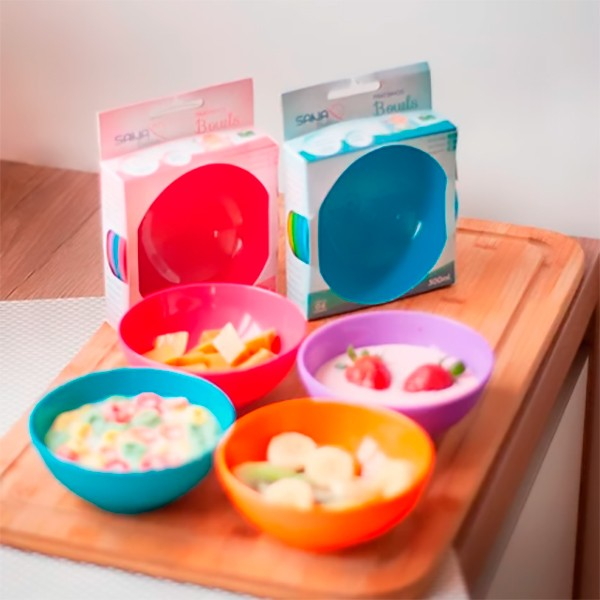 Kit com 4 potes Bowls 300 ml MO- Sana Babies