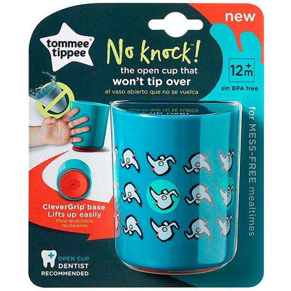 Copo Anti-Queda No Knock 190ml (Azul) - Tommee Tippee