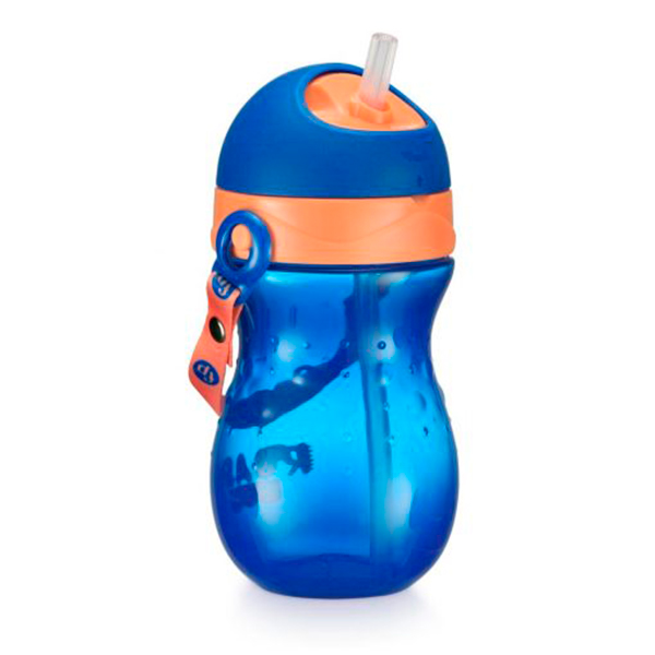 Copo Com Canudo Playful 360ml (Azul Twist) - Fisher-Price
