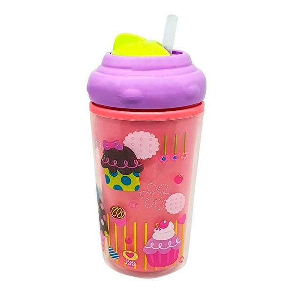 Copo Térmico com Canudo De Silicone Cool (Rosa)  - Multikids Baby
