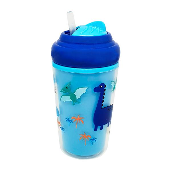 Copo Térmico com Canudo de Silicone Cool (Azul)  - Multikids Baby