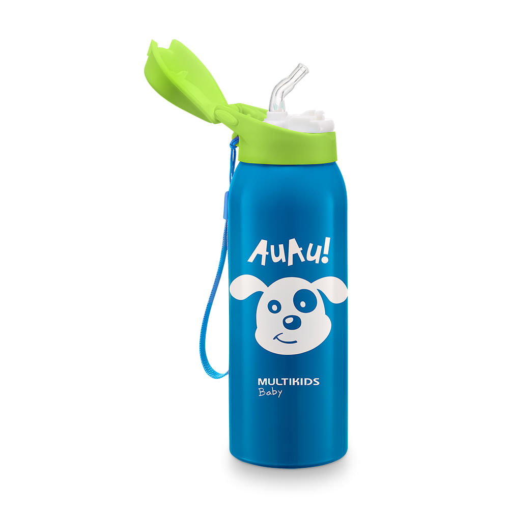 Copo Térmico com Canudo Keep It Cool (Azul) - Multikids Baby