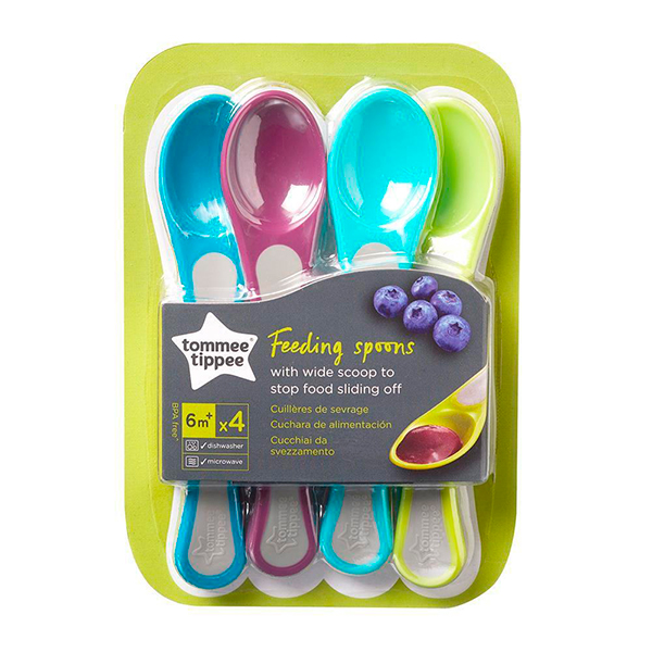 Kit 4 Colheres Concha Larga Wide Scoops - Tommee Tippee