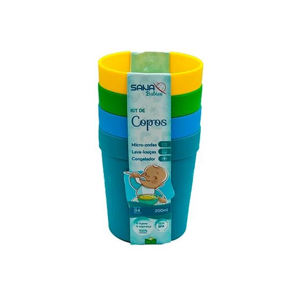 Kit com 4 Copos 200 ml MO - Sana Babies