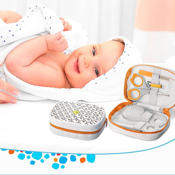 Kit Higiene Infantil (Laranja) - Multikids Baby