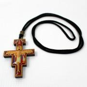 Cordão Cruz de São Damião O Pequeno Francisco