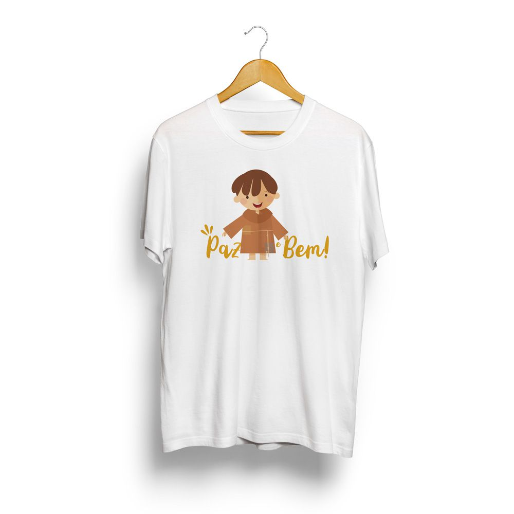 Camiseta adulto masculina O Pequeno Francisco