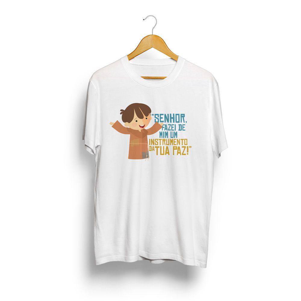 Camiseta adulto masculina O Pequeno Francisco