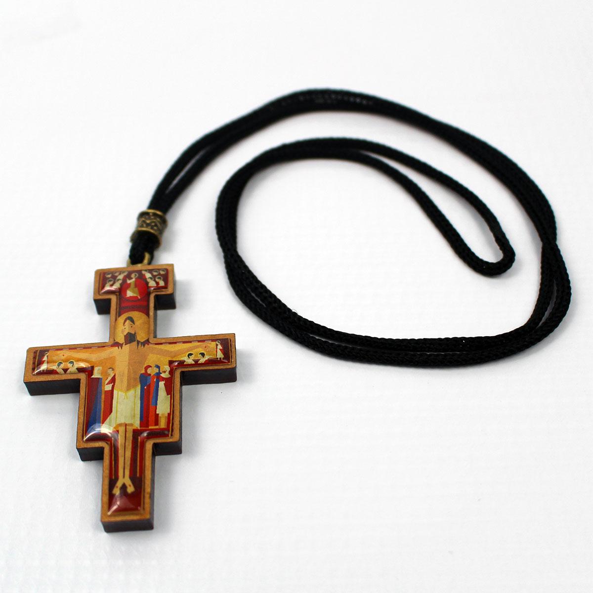 Cordão Cruz de São Damião O Pequeno Francisco  - O Pequeno Francisco