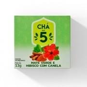 Chá das 5 - Mate Verde e Hibisco com Canela - Mate Laranjeiras 13g
