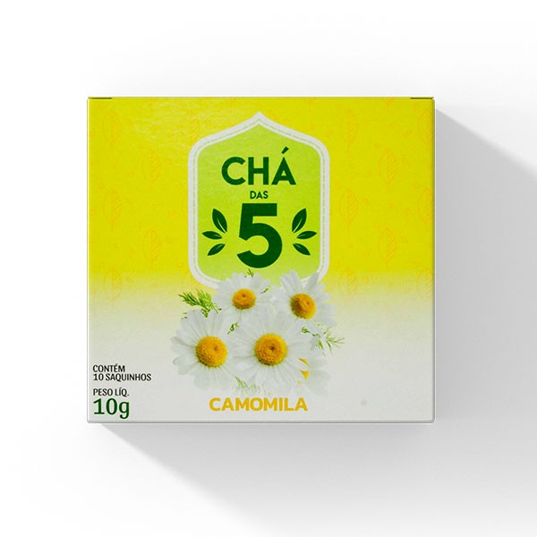 Chá das 5 - Camomila - Mate Laranjeiras 10g