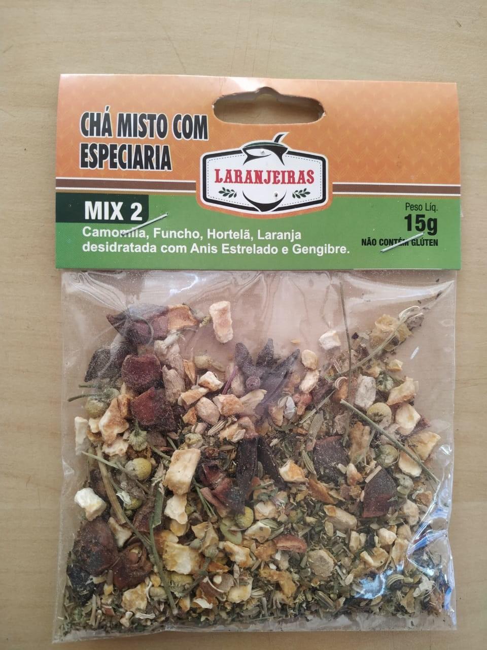 Chá Misto Com Especiarias - Mix 2 - 20 g - Mate Laranjeiras