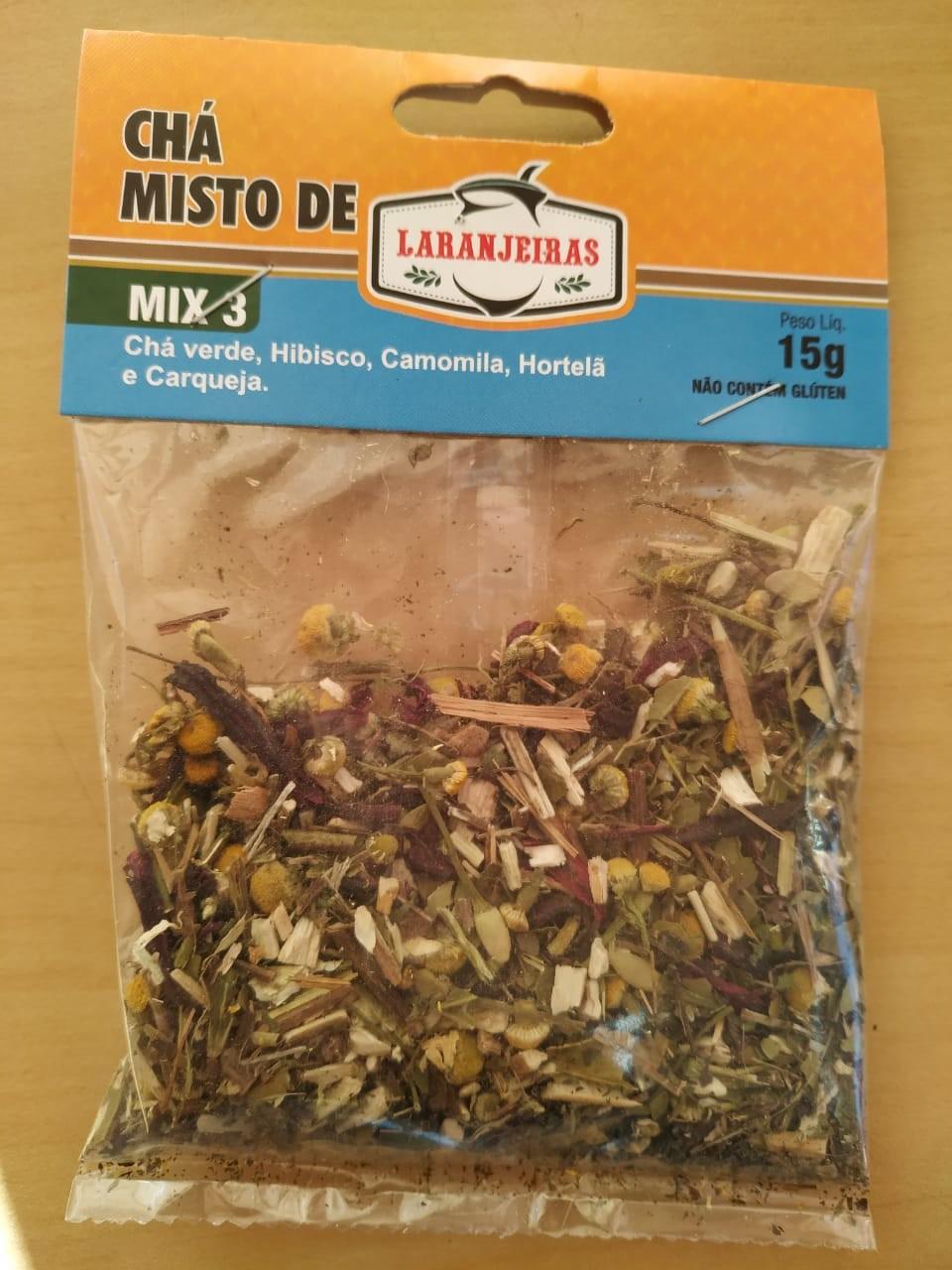 Chá Misto Com Especiarias - Mix 3 - 20 g - Mate Laranjeiras