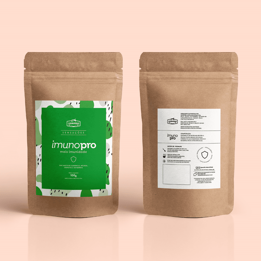 Chá Sensações Laranjeiras - Imunopró - 100g