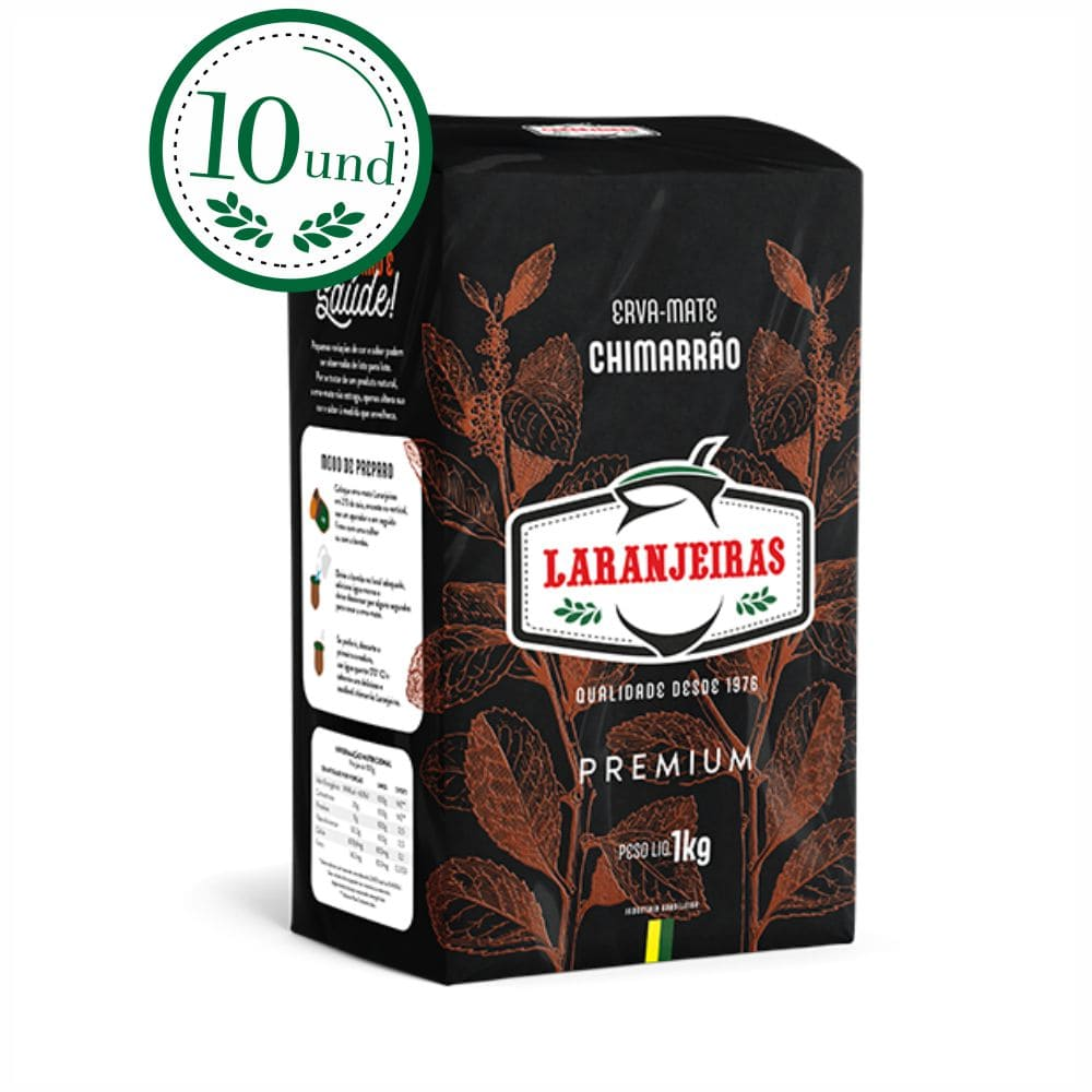 Combo Chimarrão Premium Mate Laranjeiras 1k - 10 Und