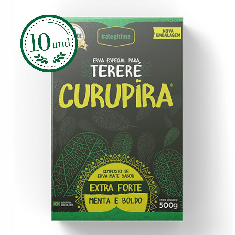 Combo Tereré Menta e Boldo - Extra Forte - Erva Especial Curupira - 10 Und