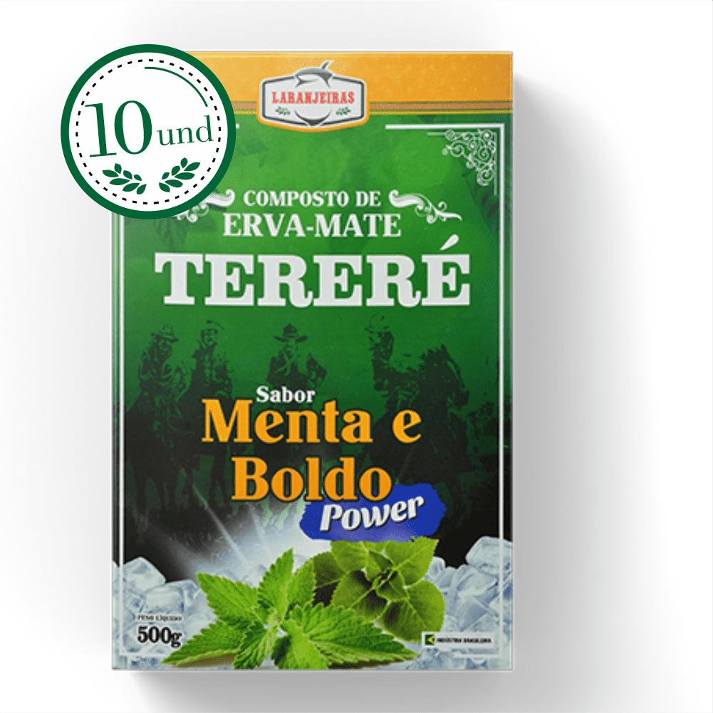Combo Tereré Menta e Boldo - Power - Composta de Erva Mate - 10 Und