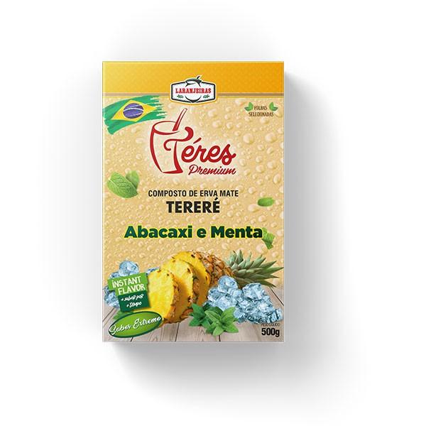 Tereré - Téres Premium - Abacaxi e Menta - Composta de Erva Mate - 500g - Mate Laranjeiras