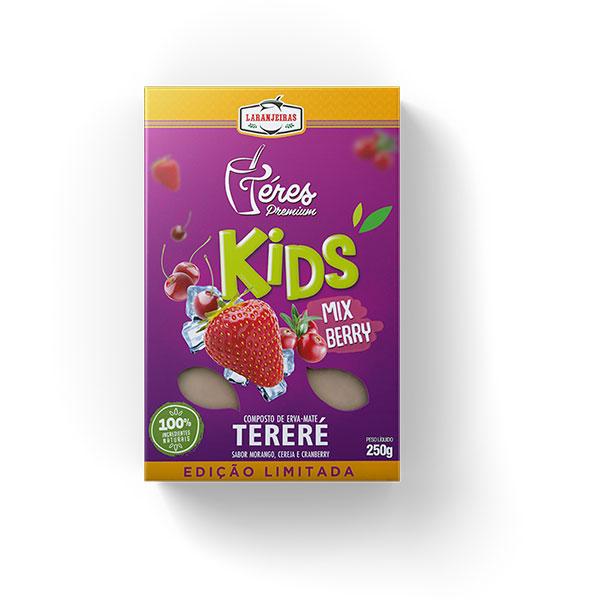 Tereré - Téres Premium - kids Blueberry - Composta de Erva Mate - 250g - Mate Laranjeiras