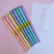 Kit 8 Canetas Coloridas Pastel Urso