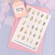 N42 - Cartela de Adesivos Flores