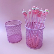 Porta Lápis Rosa Pastel