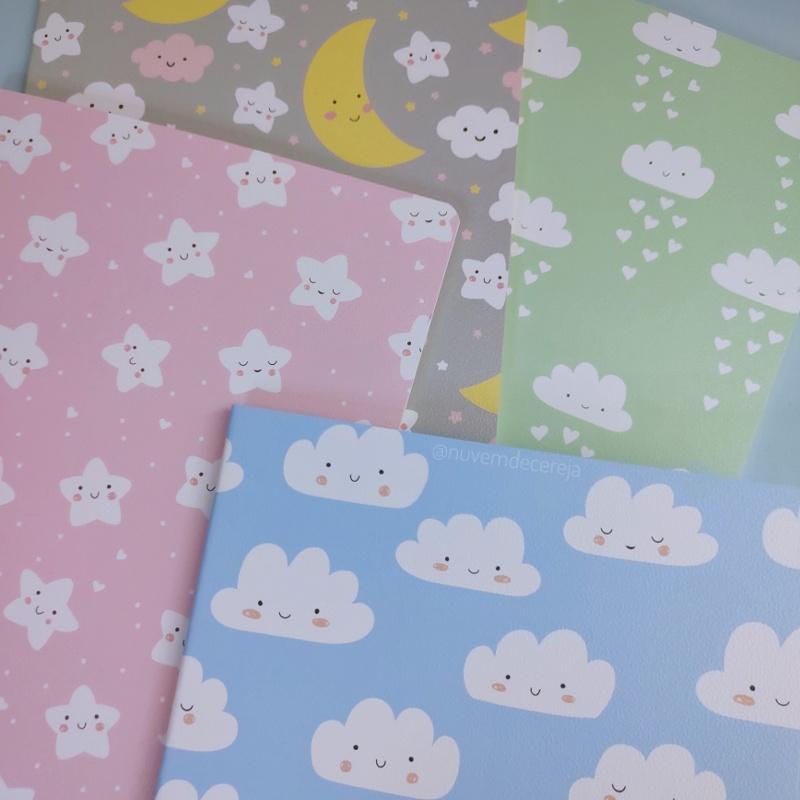 Caderno Brochura Nuvenzinhas  - Nuvem de Cereja