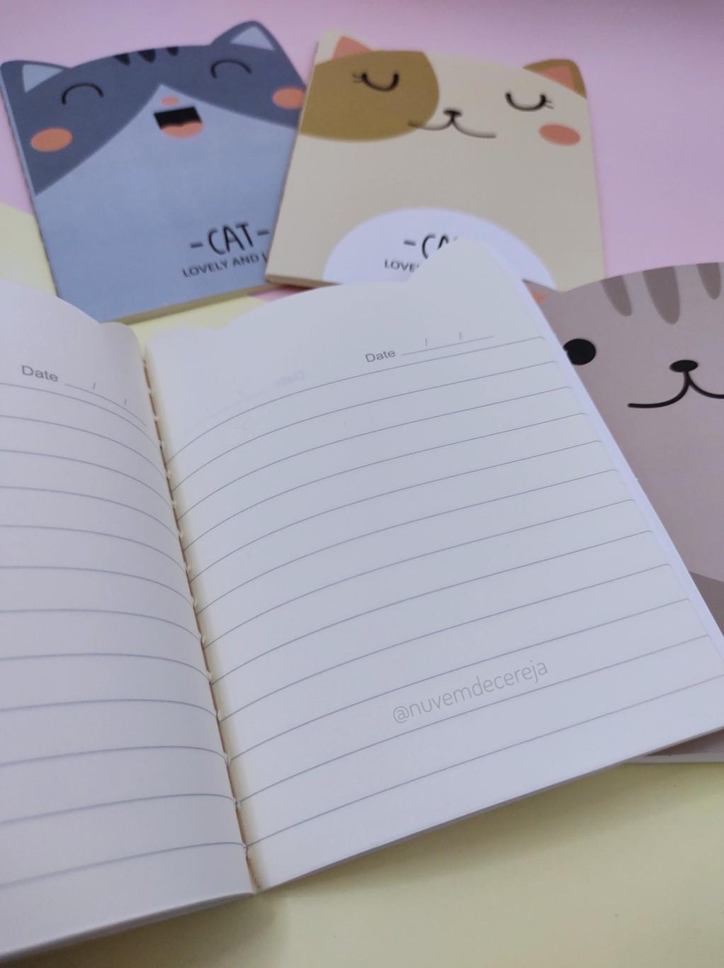Caderno Gato  - Nuvem de Cereja