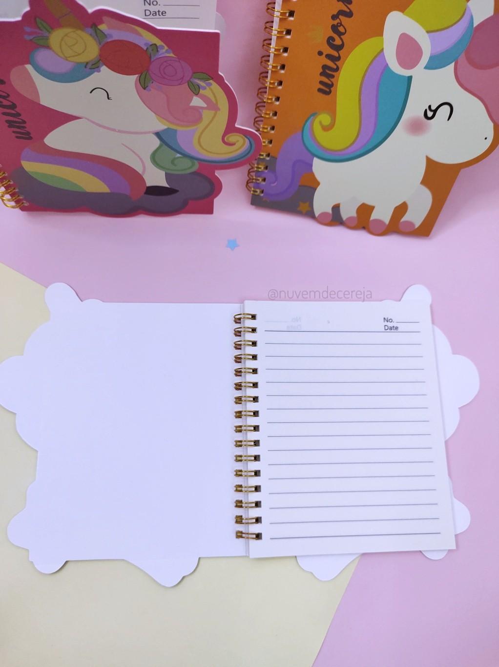 Caderno Unicórnio  - Nuvem de Cereja