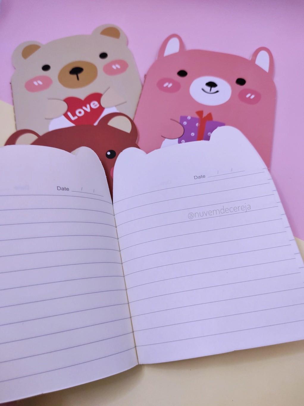 Caderno Urso  - Nuvem de Cereja