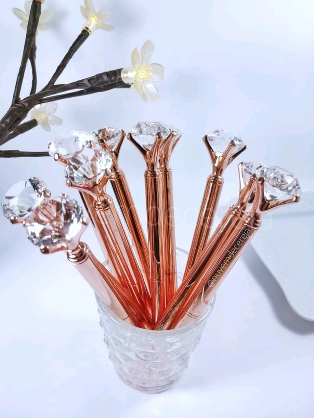 Caneta Diamante Rose Gold  - Nuvem de Cereja