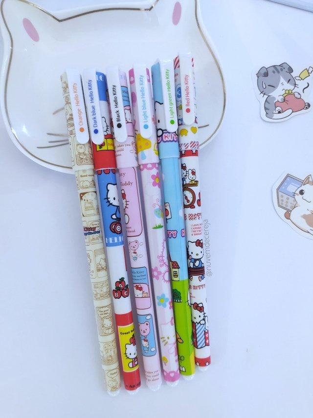 Caneta Hello Kitty colors  - Nuvem de Cereja