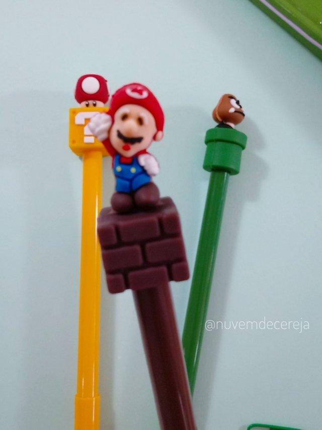Caneta Mario Bros  - Nuvem de Cereja