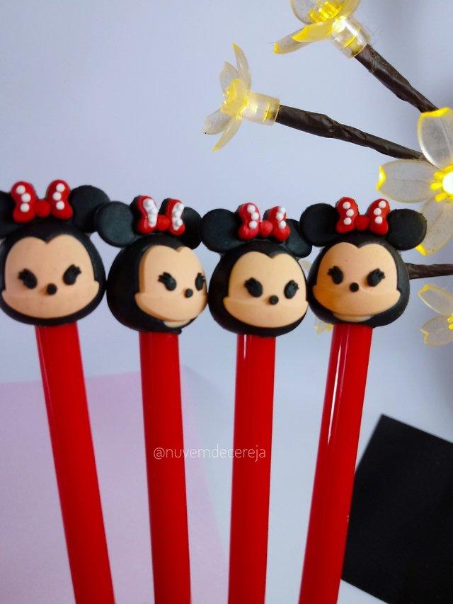 Caneta Mickey/Minnie  - Nuvem de Cereja