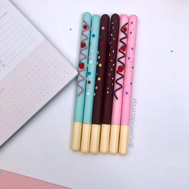 Caneta Pocky Chocolate  - Nuvem de Cereja