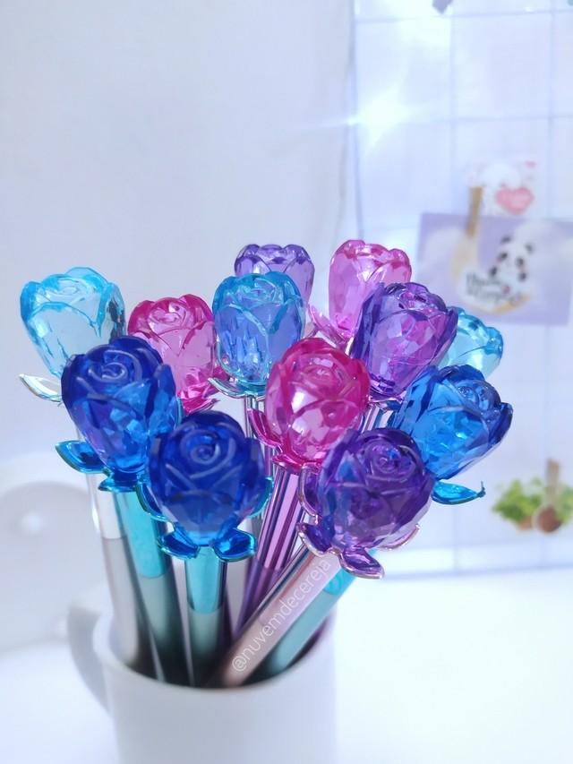 Caneta Rosa Cristal  - Nuvem de Cereja