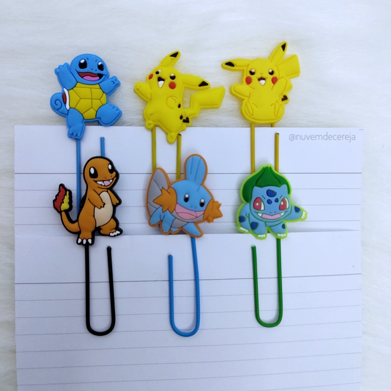 Clips Kit Pokemon com 6  - Nuvem de Cereja