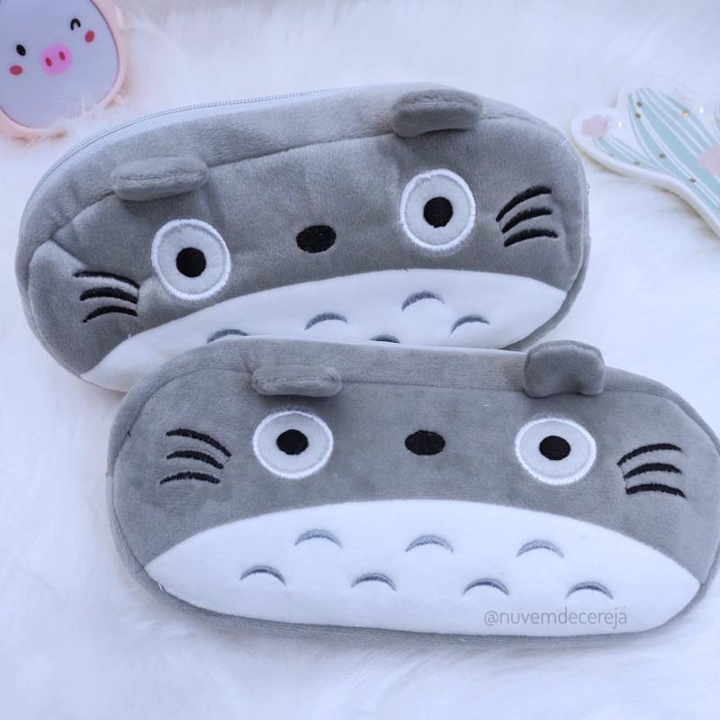 Estojo Pelúcia Totoro  - Nuvem de Cereja
