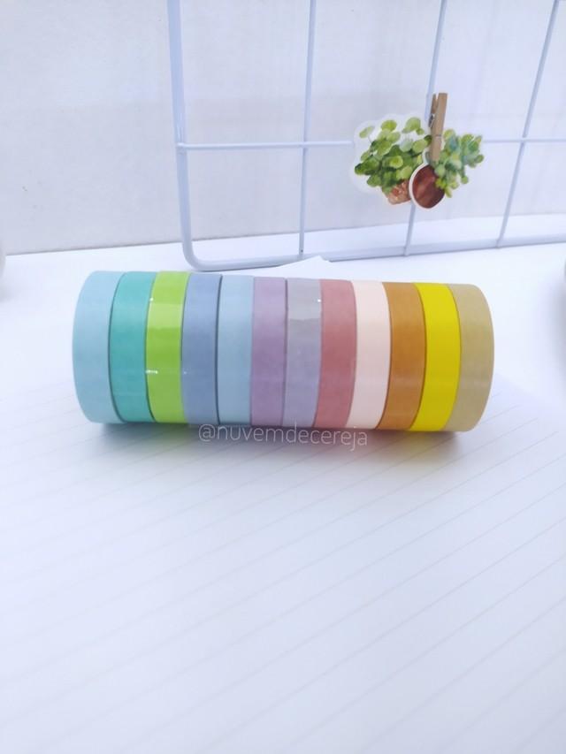 Kit 12 Paper Tape coloridas  - Nuvem de Cereja
