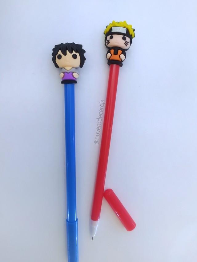 Kit caneta Naruto&Sassuke  - Nuvem de Cereja