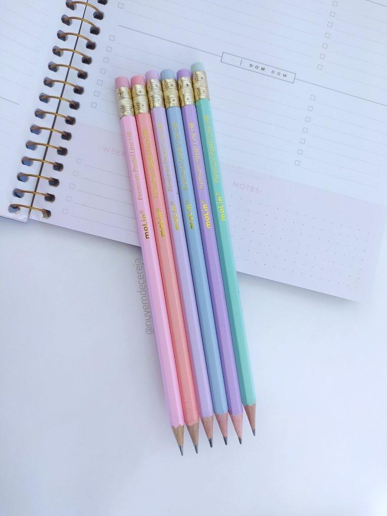 Lápis HB Pastel Line Molin  - Nuvem de Cereja