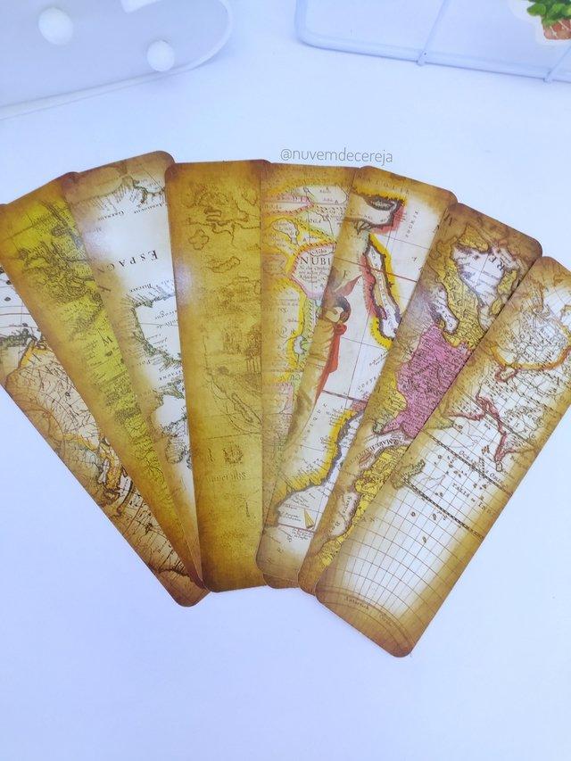 Marca  Páginas Mapas  - Nuvem de Cereja